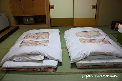 The Japanese Futon sleeping on the ground
